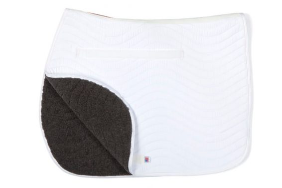 Draper Equine Therapy® All Purpose Saddle Pads are made to increase blood flow and regulate temperature in your horses back during exercise.