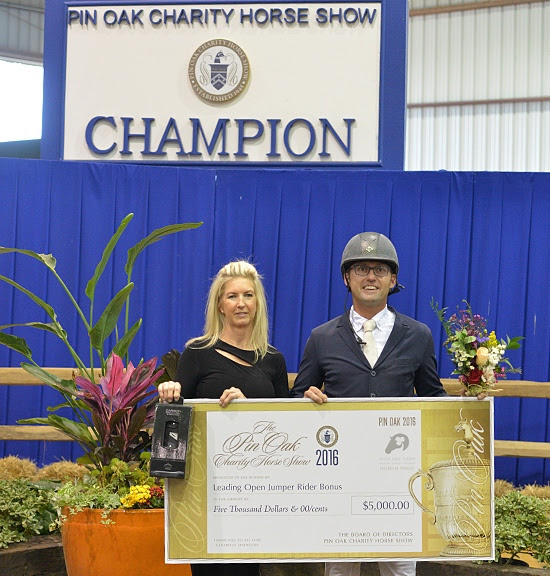 Michael Tokaruk earned the $5,000 Leading Open Jumper Rider Bonus. Photo Shawn McMillen
