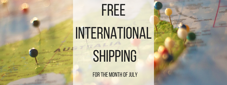 $15 International Shipping for the Month of July